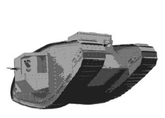 The British Mark V heavy tank of the World War I