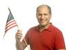 patriotic American waving flag