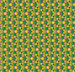 mosaico árabe verde