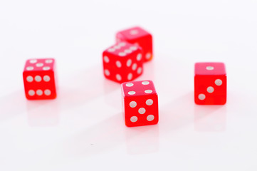 couple of red gambling dices