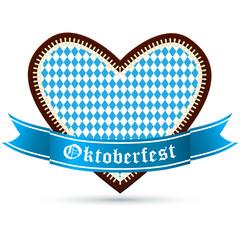 Lebkuchenherz zum Oktoberfest