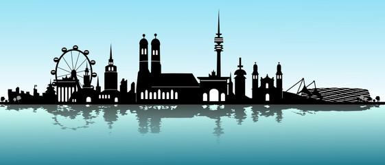 Skyline München Wverschwommen