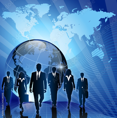 global business concept team