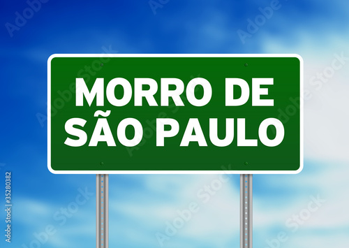 Green Road Sign -  Morro de Sao Paulo, Brazil