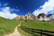 Dolomites from Gardena pass, Italy