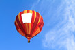 hot air balloon with blank banner