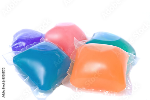 Gel capsules for washing machine
