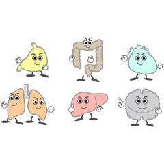 臓器キャラクターイラスト