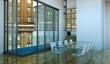 Wohndesign - Esszimmer im Loft weiss