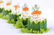 Gurken-Käsehäppchen mit Kaviar