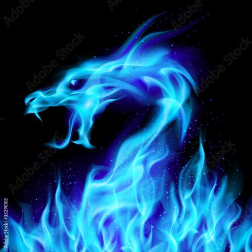 Blue fire Dragon - 35290103