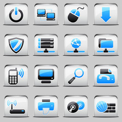button White_blue Computer
