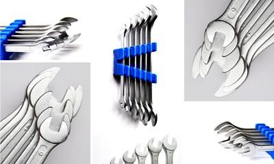 schraubenschlüssel collage weiß