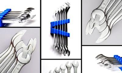 schraubenschlüssel collage schwarz