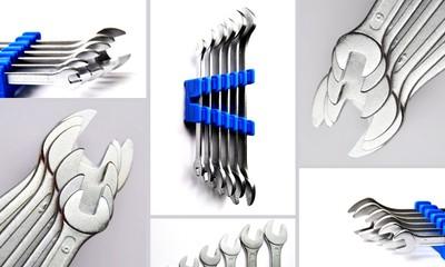 schraubenschlüssel collage grau