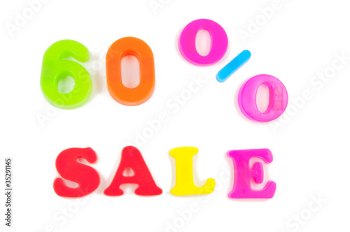 60% sale written in fridge magnets