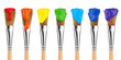 canvas print picture - colored paint brushes 2