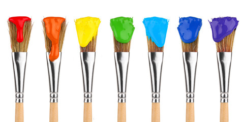 colored paint brushes 2