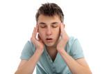 Headache pain discomfort poster