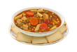 Canned Vegetable Soup Overhead View