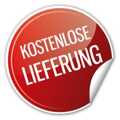 Button Aktion - Kostenlose Lieferung Versand Porto Lieferservice