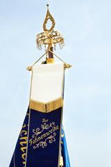 Vereinsfahne zur Fahnenweihe