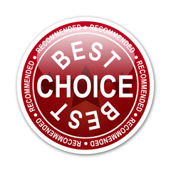 Pegatina redonda BEST CHOICE RECOMMENDED