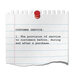 Recorte de papel texto CUSTOMER SERVICE