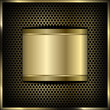 mesh background label gold 2