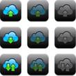 Square cloud computing app icons.