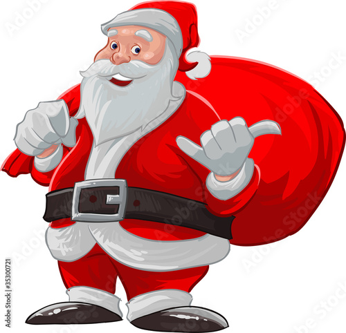 Hang loose santa claus