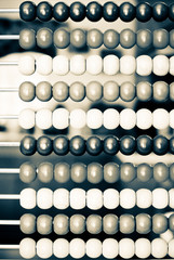 Chinese Abacus in Black and White Presentation