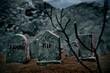 Halloween graves
