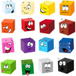color cubes with many expressions