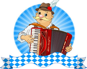 Oktoberfest Accordion Player
