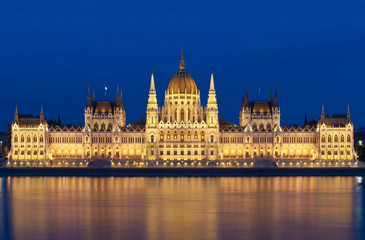 budapest parliament at night, Hungary