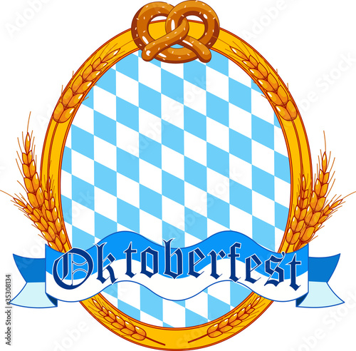 Oktoberfest  oval  label design