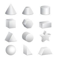 Basic 3d figures in vector