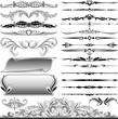 calligraphic design and decoration elements