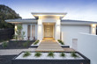 White contemporary house exterior - 35311126