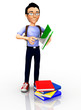 3D Male student