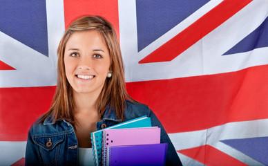 English female student