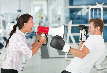 Tough female trainer