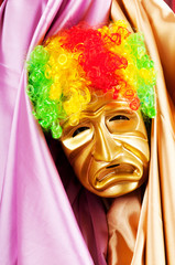 Theater concept with masked actor