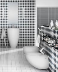 Blue Teracotta Bathroom (focus)