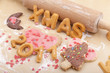 christmas cookies with letter biscuits