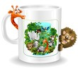 Tazza di Latte con Animali Giungla-Mug of Milk Jungle Animals