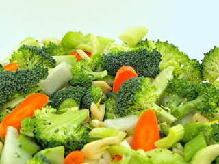 Fresh Vegetables Chopped in Preparation for Cooking