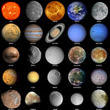 Fototapety The solar system