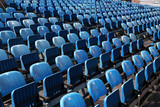 Venue - blue chairs at concert auditorium outdoor